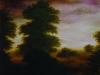 DOMINÓS TÁJKÉP  1997  OLAJ, VÁSZON + DOMINÓ  70 X 60 X 0,5 CM.